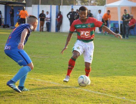 Flavinho fez seu primeiro gol como profissional (Foto: André Oliveira)