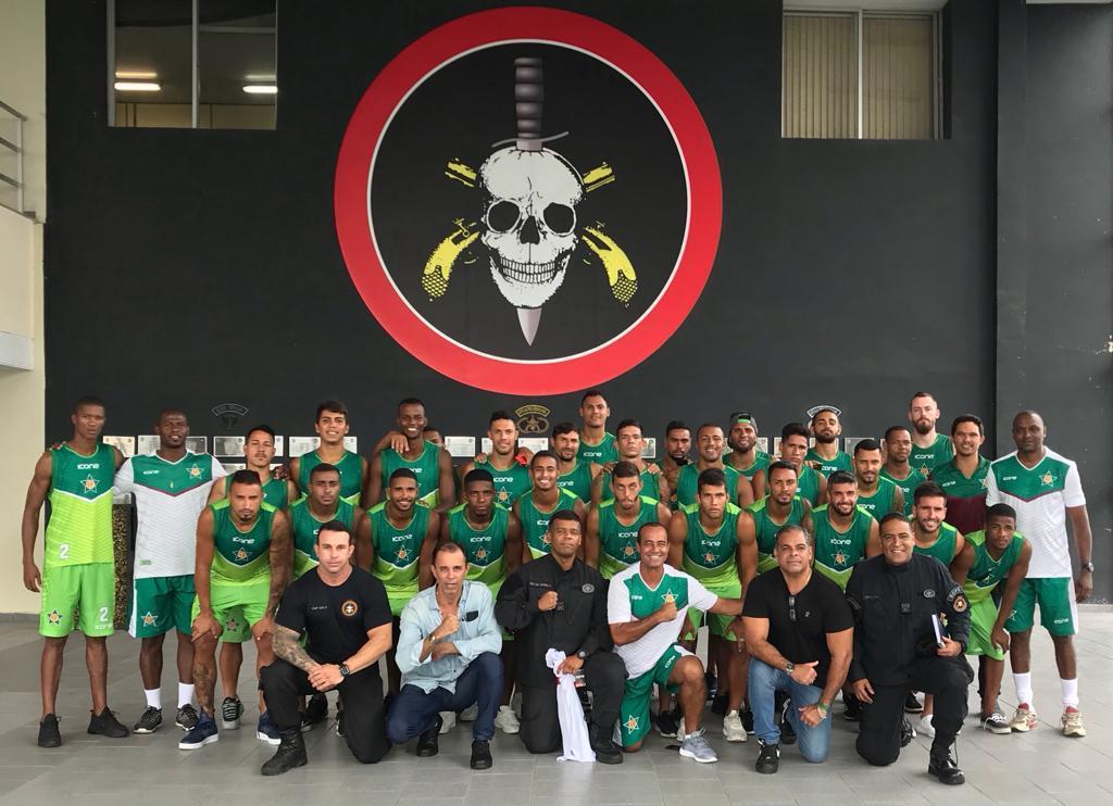 Atletas Da Portuguesa Visitam As Instalações Do Bope Para